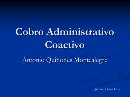 "Presentación Conferencia ""Cobro Administrativo Coactivo"""