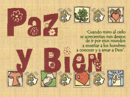 Proyecto Paz y Bien - Colegio Virgen Niña