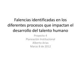 Falencias Proyecto P..