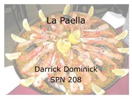 La Paella - SPN208Fall09