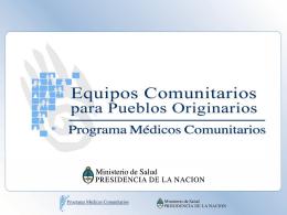 cooperacion internacional de medicos comunitarios