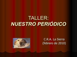 TALLER: NUESTRO PERIÓDICO