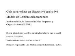 Guía para realizar un diagnóstico cualitativo Modelo de