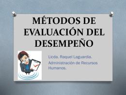 METODOS DE EVALUACIÓN DEL DESEMPEÑO