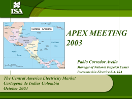 The Central America Electricity Market