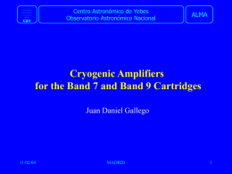 Cryogenic Amplifiers for the Band 7 and Band 9 Cartridges