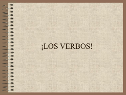 ¡LOS VERBOS!