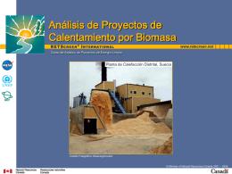 Análisis de Proyectos de Calentamiento por Biomasa