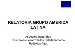 relatoria grupo america latina