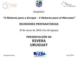 RIVERA - 4 Motores para Mercosur