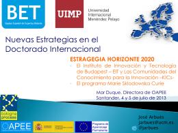 Estrategia Horizonte 2020