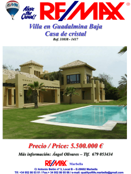 900sqm BUILT LUXURY VILLA IN GUADALMINA