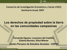 Presentación - Consorcio de Investigación Económica y Social