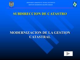 Modernización Catastral - Instituto Geográfico Agustín Codazzi