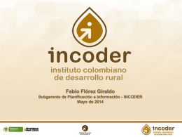 Incoder_Oferta_Institucional - Ministerio de Agricultura y Desarrollo