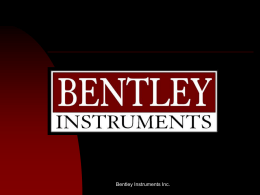 Por que Bentley Instruments?
