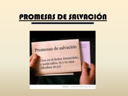 PROMESAS DE SALVACIÓN