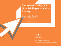 The sustainability of a spanish regional virtual library