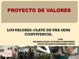 Proyecto de ética y valores humanos