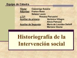 Entramado Historiografía - Facultad de Trabajo Social