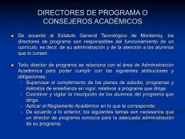 directores de programa o consejeros académicos