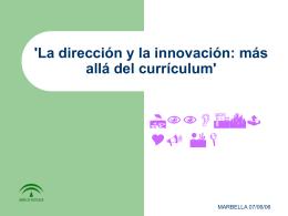 Ma Carmen Alvarez La dirección y la innovación