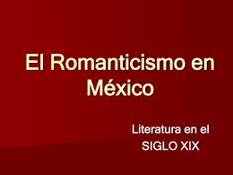 El Romanticismo en México