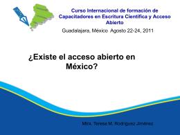Desarrollo de iniciativas de acceso abierto en México