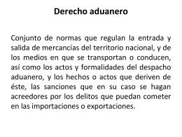 Marco Constitucional del Derecho aduanero