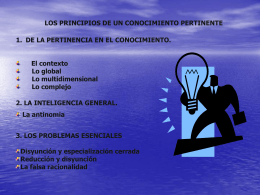 El contexto - proyectos