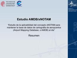 Estudio AMDB/xNOTAM