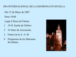día internacional de la matrona en sevilla