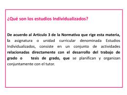Estudios Individualizados[1] presentación