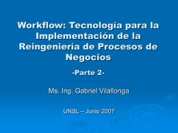 Workflow: Tecnología para la Implementación de la Reingeniería de