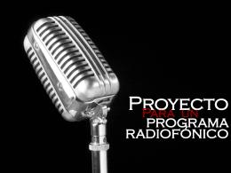 Proyecto escrito de radio.