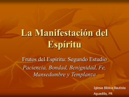 Paciencia - Iglesia Bíblica Bautista de Aguadilla