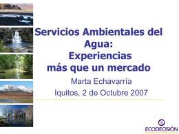 Agua - Sistema de Información Forestal de la Amazonía Peruana