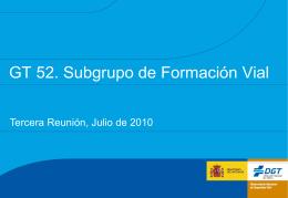 GT 52 Subgrupo Formación Tercera Reunión v4