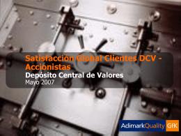Informe Adimark-2007 - Deposito Central de Valores