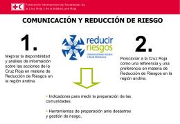 Comunicación y reducción de riesgo IFRC