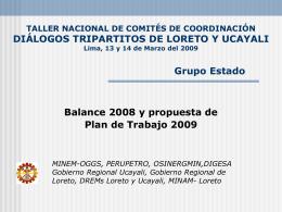 TALLER NACIONAL DE COMITES DE COORDINACIÓN Comité de