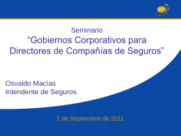 Informe del Comité de Gobiernos Corporativos