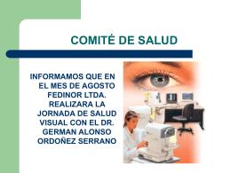 COMITÉ DE SALUD PAGINA WEB