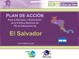 el salvador - Seminario de Políticas en TIC y Educación para