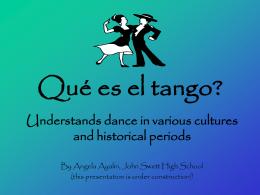 Qué es el tango?