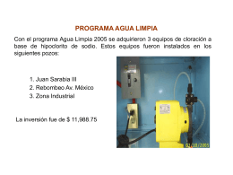 programa agua limpia