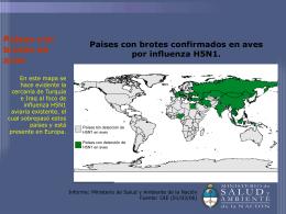 Países con brotes en aves