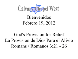 Romanos 3:21 - Calvary Chapel West