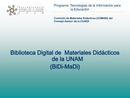 Biblioteca Digital de Material Didáctico (BiDi-MaDi)