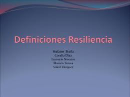 Definición de la Resiliencia